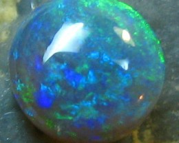 CABOCHON CUT CRYSTAL CUT BEAUTIFUL BLACK OPAL .85 CTS A342