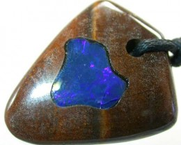 OPAL INLAY PENDANT/STRAP-GREAT POLISH 37 CTS [BMP1008 ]