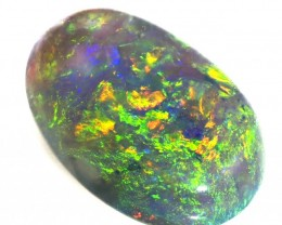 GREEN FIRE BLACK CRYSTAL OPAL 1.70 CTS  R 1933