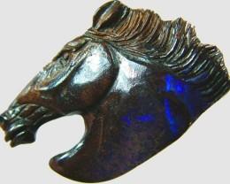 60 CTS BOULDER OPAL HORSE CARVING   [BMA1363]