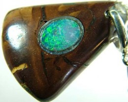 OPAL INLAY PENDANT/SLIVER CHAIN-21 CTS  [BMP1504 ]