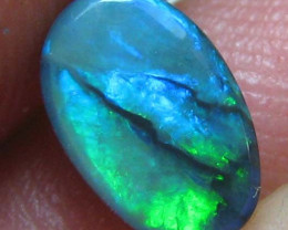 NEON GREEN ELECTRIC SOLID CUT BLACK OPAL