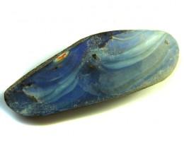 BOULDER OPAL  PATTERN BLUE  GREEN   12.1CARATS  QO 3128