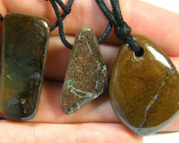 THREE (3)NATURAL PENDANTS SOURCED KOROIT    OM 1537