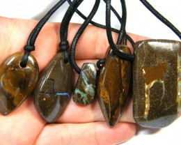 FIVE (5)NATURAL PENDANTS SOURCED KOROIT    OM 1562