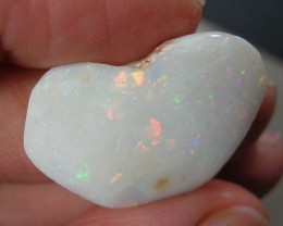 (ROR) COOBER PEDY OPAL ROUGH RUB  PREFORMED HEART 21.18 CT