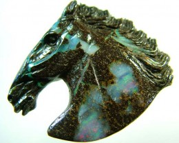 68 CTS  BOULDER HORSE CARVINGS-HIGHLY POLISHED [BMA1395]