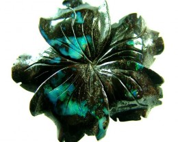 96 CTS BOULDER FLOWER CARVINGS-HIGHLY POLISHED [BMA1434]