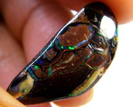 GREEN VEINS FLASH KOROIT TOP END OPAL 12.90 CARATS R 2108