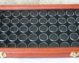 Jarrah Opal & Gemstone Display Case with 50 Gem Jars (JGl-50