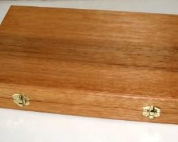 Oak, Opal & Gemstone Display Case with 100 Gem Jars (JGl-50