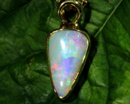 COOBER PEDY SHELL OPAL PENDANT 18K GOLD 3.20 CTS SCA1927
