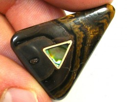 PEARL INLAY BOULDER  OPAL  PENDANT  31  CTS  SG1078