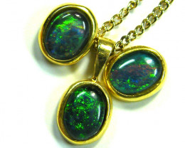 8X6  MM  TRIPLET SET  EARRINGS AND PENDANT  SCA1981