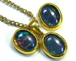 8X6  MM  TRIPLET SET  EARRINGS AND PENDANT  SCA1985