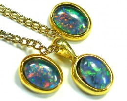 7x5 MM  TRIPLET SET  EARRINGS AND PENDANT  SCA1990