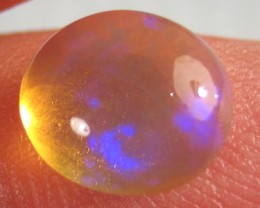 # 1.90 CTS BLACK OPAL CRYSTAL BLUE FIRE CABOCHON STONE