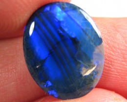 # 3.75 CTS BLACK OPAL CABOCHON NATURAL STONE DEEP ELECTRIC BLUE FIREY PATTE