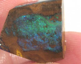 # 19.05 CTS BOULDER OPAL ROUGH DEEP BLUE GREEN FIREY PIECE