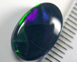 DOUBLE SIDED SOLID BLACK OPAL STONE 3.40CTS A224