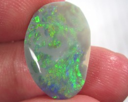 # 7.85 CTS GOLDEN GREEN FIRE LARGE BLACK OPAL RUB