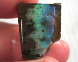 # 24.35 CTS BOULDER OPAL RUB NICE FIRE IN THIS PIECE