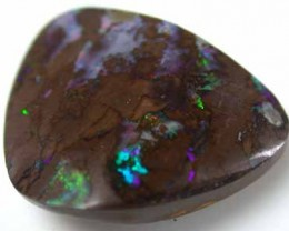FREE SHIPPING BOULDER OPAL COLOUR FIRE FLASH 15.60CT GR525