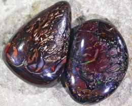 GREAT PATTERNED BOULDER OPALS  2PC GR576