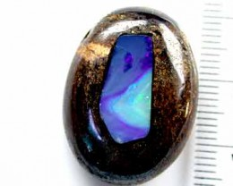 NEW OPAL INLAID INTO IRONSTONE 37 CTS GR654