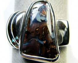 BEAUTIFUL BOULDER OPAL RING SIZE 12.5  MY 825