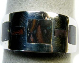 BOULDER INLAY OPAL RING SIZE 9.5  MY 828