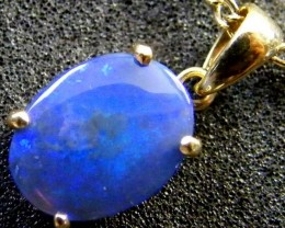 BLACK OPAL 18K GOLD PENDANT 1.7 CTS  SCA 2093