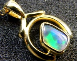 BLACK OPAL 18K GOLD PENDANT 0.90 CTS  SCA 2100