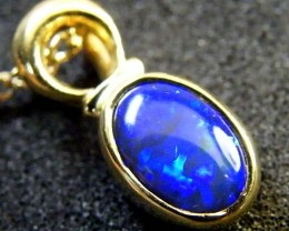 BLACK OPAL 18K GOLD PENDANT 1.20 CTS  SCA 2107