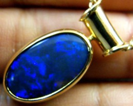BLACK OPAL 18K GOLD PENDANT 5 CTS  SCA 2108