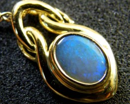 BLACK OPAL 18K GOLD PENDANT 1 CTS  SCA 2109