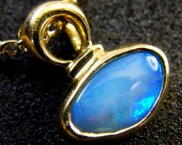 BLACK OPAL 18K GOLD PENDANT 1.20 CTS  SCA 2110