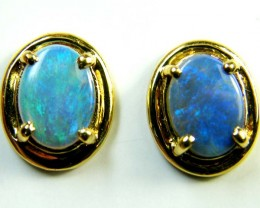 ENHANCED OPAL 18K GOLD EARRINGS 2.30 CTS  SCA 2147