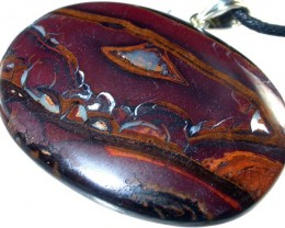 120 CTS LARGE CHOCOLATE KOROIT PENDANT/SILVER BAIL [FJP1721 ]