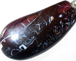 28 CTS CHOCOLATE KOROIT PENDANT/SILVER BAIL  [FJP1734 ]
