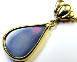 BLACK OPAL 18K GOLD PENDANT 3.10 CTS  SCA 2165