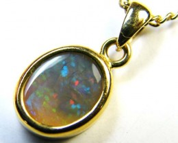 CRYSTAL OPAL 18K GOLD PENDANT 1.20 CTS  SCA 2173