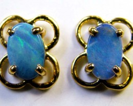 BOULDER OPAL 18K GOLD EARRINGS 1 CTS  SCA 2178