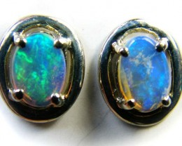ENHANCED CRYSTAL OPAL 18K GOLD EARRINGS 1 CTS  SCA 2190