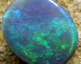 QUALITY N4 BLACK  OPAL FROM LIGHTNING RIDGE 0.44 CTS [S875 ]
