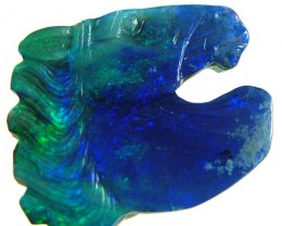 QUALITY  GEM  OPAL HORSE HEAD  CARVING  16  CTS  [S820 ]