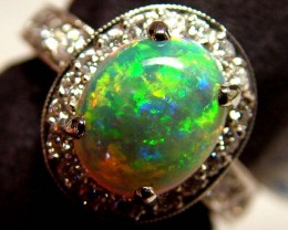 AAA CRYSTAL OPAL L RIDGE GEM GRADE GOLD RING 41 CTS KR-1