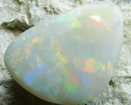 1.75 CTS PASTEL RED  MULTI COLOR FIRE CUT DARK OPAL  A629