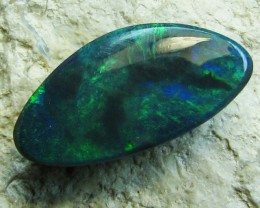 DIFFERENT SHADES OF GREEN CUT SOLID BLACK OPAL 2.40 A638