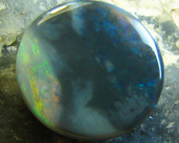 ROUND CUT BEAUTIFUL BLACK OPAL $5 SPECIAL 1 CT STONE